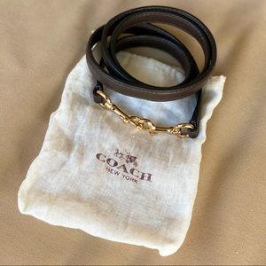COACH Mahogany Brown Grain Leather Shoulder Strap